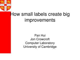How small labels create big improvements