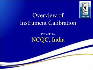 Overview of Instrument Calibration