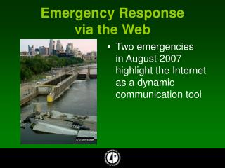 Emergency Response  via the Web
