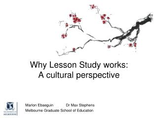 Why Lesson Study  works: A cultural perspective