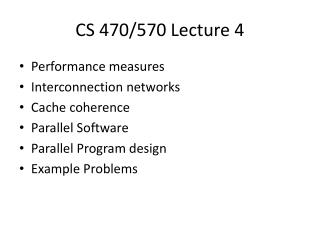 CS 470/570 Lecture 4