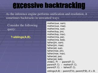 excessive backtracking