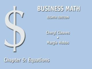 5.1 Equations