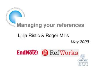 Managing your references