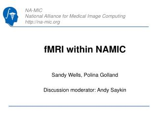 fMRI within NAMIC