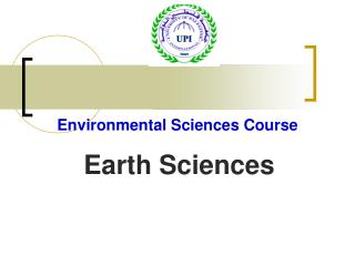 Environmental Sciences Course Earth Sciences