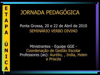 JORNADA PEDAG�GICA