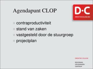 Agendapunt CLOP