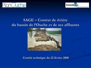 SAGE – Contrat de rivière  du bassin de l'Ouche et de ses affluents