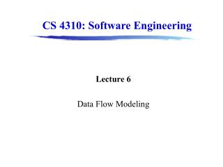 Lecture 6 Data Flow Modeling