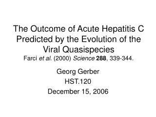 Georg Gerber HST.120 December 15, 2006