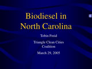 Biodiesel in North Carolina