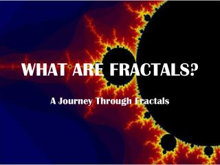 WHAT ARE FRACTALS?