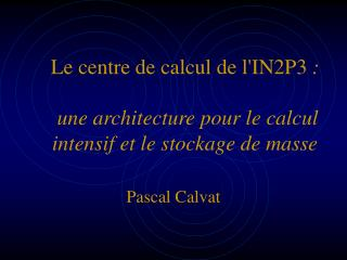 Pascal Calvat