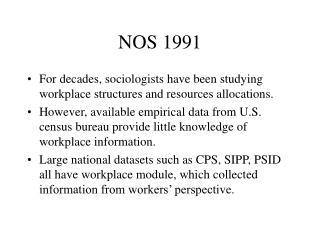 NOS 1991