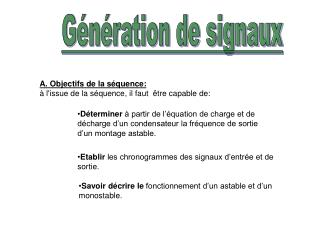 Génération de signaux