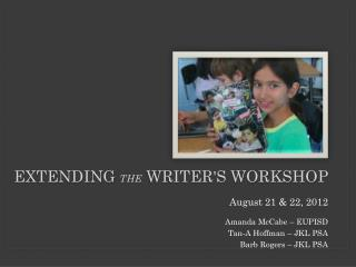 Extending  the  Writer's workshop
