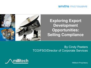Exploring Export Development Opportunities:  Selling  Compliance