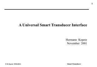 A Universal Smart Transducer Interface