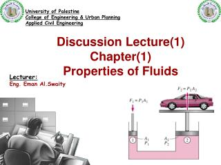 Discussion Lecture(1) Chapter(1) Properties of Fluids