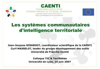 Les systèmes communautaires d'intelligence territoriale