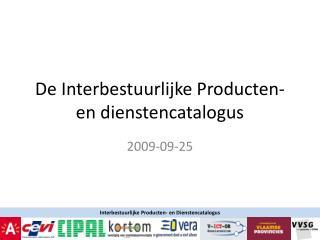 De Interbestuurlijke Producten- en dienstencatalogus