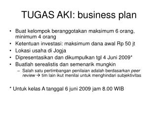 TUGAS AKI: business plan