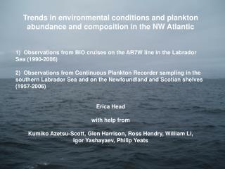 Trends in environmental conditions and plankton abundance and composition in the NW Atlantic