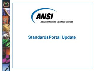 StandardsPortal Update