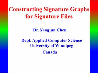 Constructing Signature Graphs for Signature Files