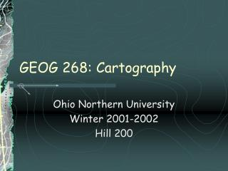 GEOG 268: Cartography