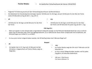 Fischer-Modus