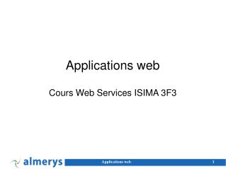 Applications web