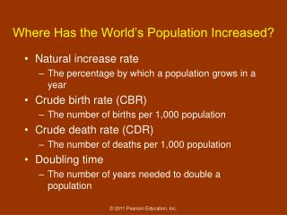 Where Has the World's Population Increased?