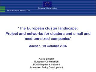 'The European cluster landscape: