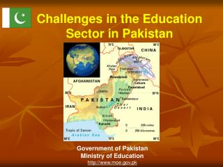 Challenges in the Education Sector in Pakistan