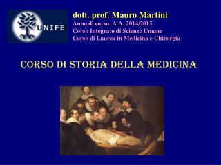 Corso di Storia della Medicina