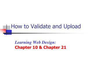 How to Validate and Upload