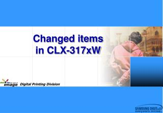 Changed items  in CLX-317xW
