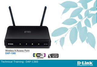 Technical Training: DAP-1360