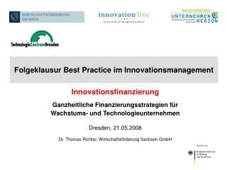 Folgeklausur Best Practice im Innovationsmanagement
