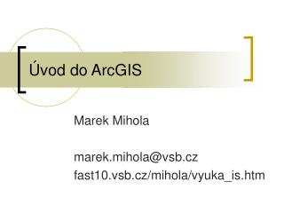 Úvod do ArcGIS