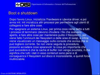 Boot e shutdown