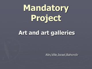 Mandatory Project