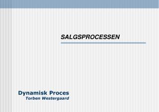 Dynamisk Proces Torben Westergaard