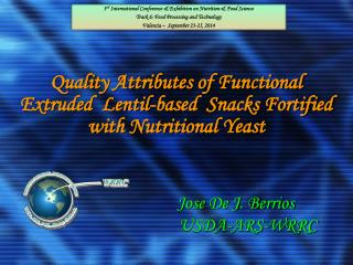 Q uality Attributes of Functional Extruded  Lentil-based  Snacks Fortified with Nutritional Yeast