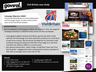 Visit Britain case study