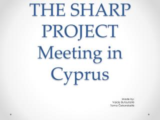 THE SHARP PROJECT Meeting in Cyprus