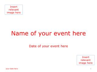 Name of your event here