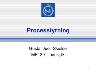 Processtyrning